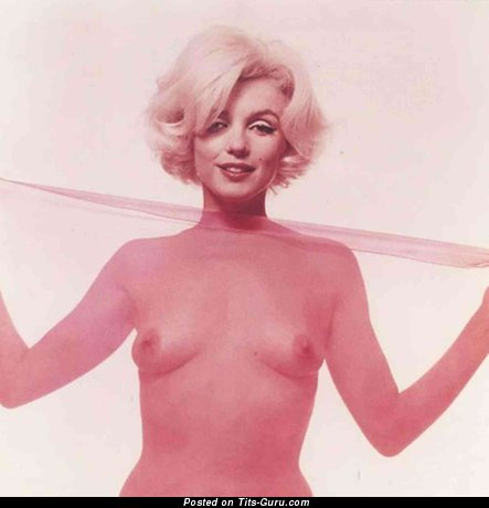 Marilyn Monroe - Nice Topless American Playboy Blonde Singer & Actress with Nice Bald Real Meager Hooters & Big Nipples (Vintage Hd Porn Pic)