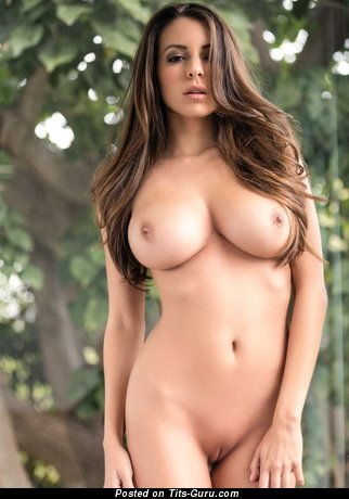 Image. Sexy nude beautiful lady with big breast photo