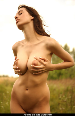 Nice Babe with Nice Bare Natural Medium Sized Busts (Hd 18+ Wallpaper)