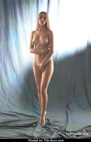 Image. Julia Kova - nude beautiful woman with medium natural boobs picture