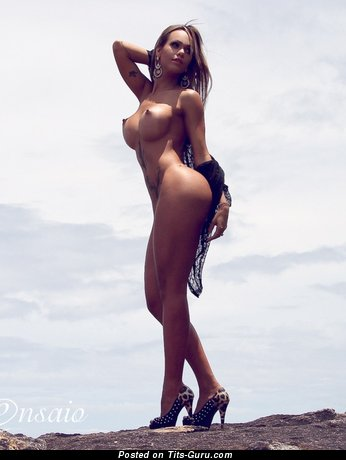 Image. Naked wonderful girl with big fake tittys image