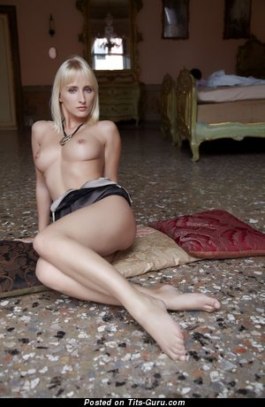 Image. Naked wonderful lady with natural breast photo