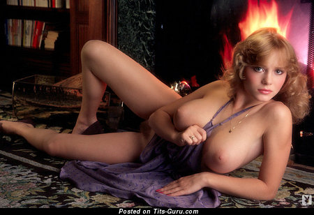 Kimberly Mcarthur: sexy topless blonde with medium tots & big nipples vintage