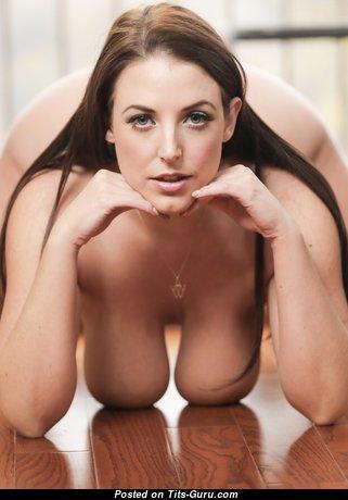 Angela White - Pretty Australian Brunette Pornstar & Babe with Pretty Nude Real Boob (Porn Pic)