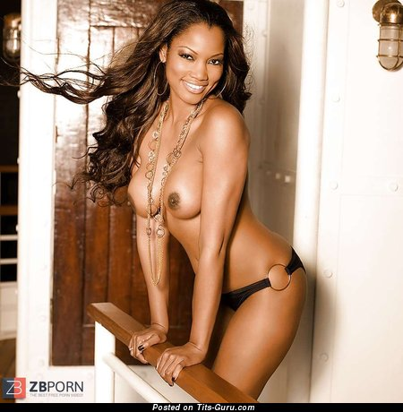 Garcelle Beauvais - Delightful Haitian, American Brunette Actress with Alluring Bare Real Melons (Porn Pic)