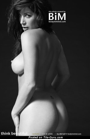 Image. Rachelle Wilde - sexy wet naked brunette with big natural tits photo