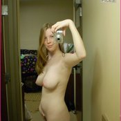 Amazing lady with natural boobs selfie