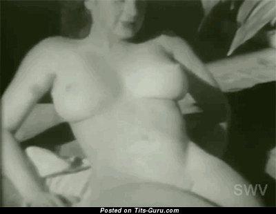 Debbie Westmore: naked brunette with medium natural boob vintage gif