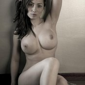 Beautiful female with big fake breast photo