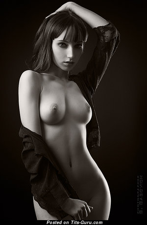 Nude amazing girl with medium natural tits picture