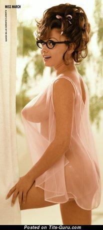 Image. Fran Gerard - sexy naked brunette with medium natural boobies vintage