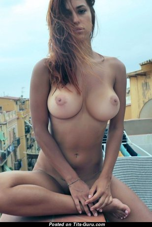 Beautiful Babe with Beautiful Naked Average Boobs (Sexual Wallpaper)