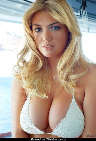 Kate Upton - Dazzling American Blonde Actress & Babe with Dazzling Naked Natural Very Big Hooters (Sexual Picture)