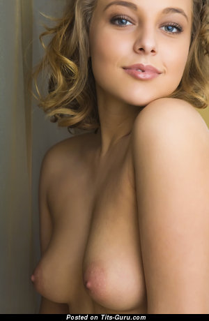 Image. Nice girl with medium natural breast picture