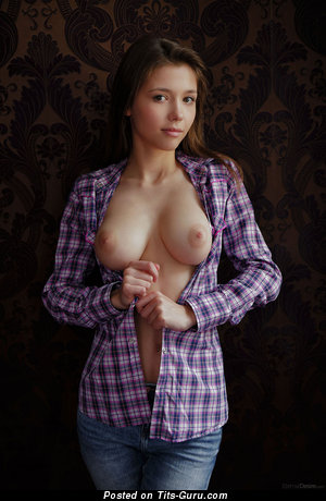 Image. Mila Azul - naked brunette with medium natural breast photo