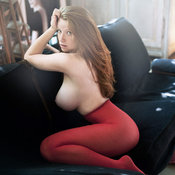 Red hair with huge tits image