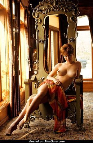 Splendid Babe with Splendid Bald Real Regular Boobie (Sexual Photo)