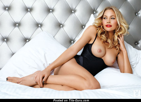 Carrie Tivador - Delightful Playboy Blonde with Delightful Bald Real Med Boobs (Hd 18+ Image)