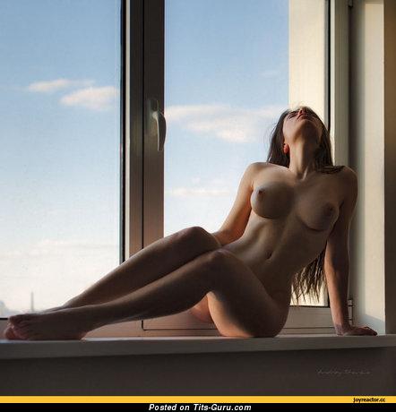 Image. Naked wonderful woman with medium tits photo