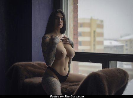 Евгения Таланина - Magnificent Brunette Babe with Nice Exposed Natural Med Tittys, Pointy Nipples, Sexy Legs (Hd Sex Foto)