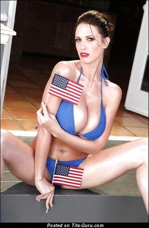 Image. Lana Kendrick - nude brunette with huge natural breast pic