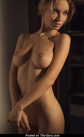 Image. Nude amazing woman with medium natural breast picture
