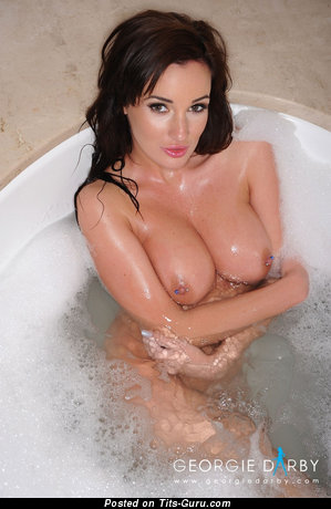 Image. Georgie Darby - nude beautiful female with medium tittys image