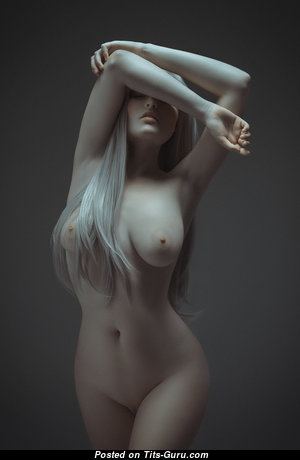 Pleasing Blonde with Pleasing Open Natural Regular Boobys (Hd 18+ Picture)