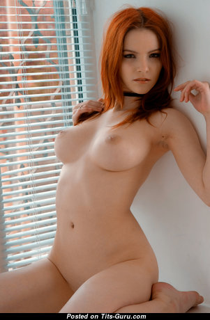 Ulya I - Fascinating Ukrainian Red Hair with Fascinating Open Natural Med Tots & Big Nipples (Hd Porn Image)