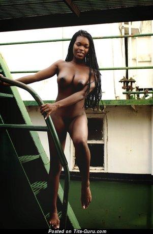 Image. Deserea - naked ebony photo
