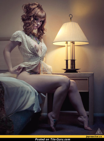 Nude beautiful woman with medium tittes photo