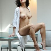 Beautiful girl with big natural tittes image