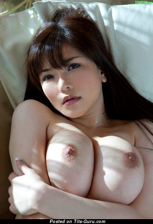 Image. Naked asian with big natural boob image