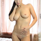Delightful Babe with Delightful Open Natural Mid Size Tits (Xxx Wallpaper)