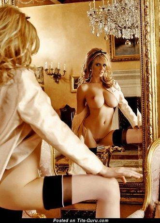 Dora Braid - Wonderful Blonde Babe with Wonderful Naked Medium Hooters (Hd Porn Foto)