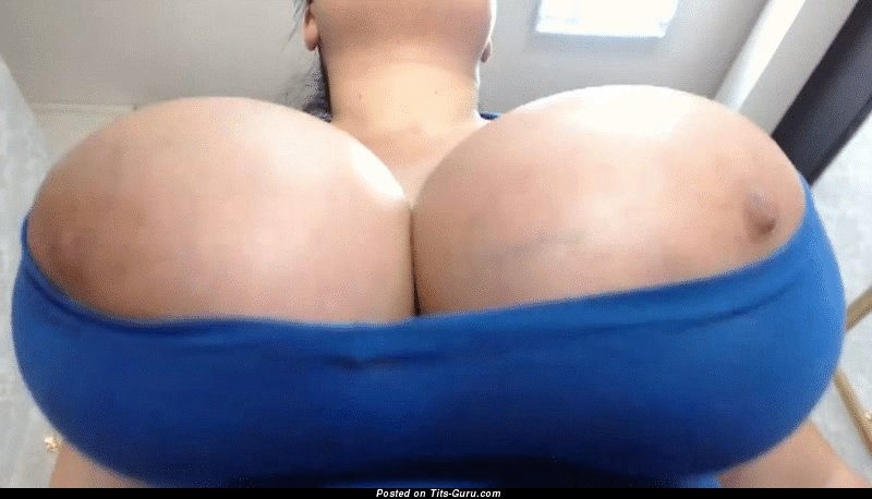 Nickyboobs: naked blonde with big natural tits gif