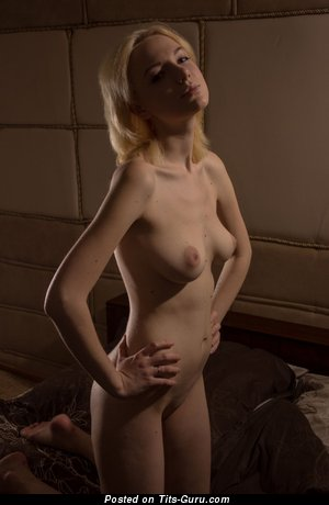 Nude beautiful lady with natural breast image