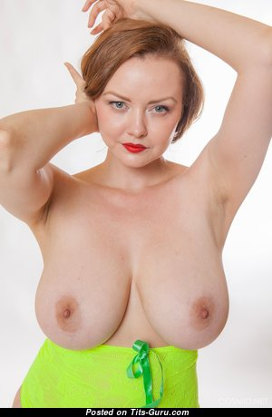 Natasha Dedov - Nice Glamour & Topless American Red Hair Actress & Babe with Nice Bald Natural Dd Size Boobs, Weird Nipples, Sexy Legs in Panties & Lingerie is Doing Fitness (Hd Xxx Photoshoot)