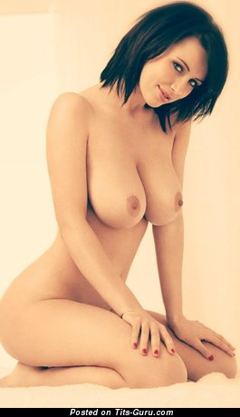 Nude hot girl with big natural boobies photo