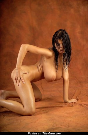 Jana Defi - naked amazing female with huge natural tots picture
