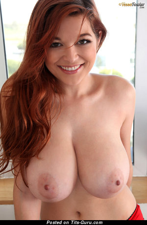 Tessa Fowler - Stunning Topless American Red Hair Pornstar & Babe with Stunning Bald Natural Ddd Size Jugs & Red Nipples (Hd Xxx Picture)