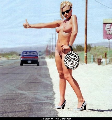Jaime Pressley - Exquisite Blonde Babe with Exquisite Defenseless Real Firm Tots in High Heels (Sex Photo)