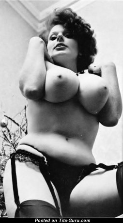 Image. Naked wonderful girl with big natural boobs vintage
