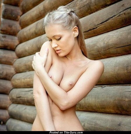 Image. Naked nice lady with medium natural boobs picture