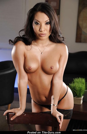 Image. Asa Akira - sexy nude asian brunette with natural tittes pic