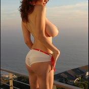 Danielle Riley - hot female with huge natural breast image