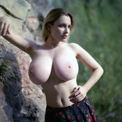 Hot girl with huge tittes photo