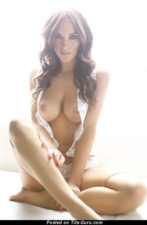 Image. Rosie Jones - sexy nude brunette with medium boobs picture