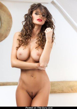 Pleasing Chick with Pleasing Bald Fake Boobie (Porn Image)