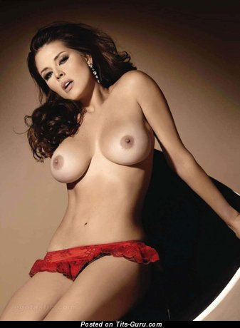 Alicia Machado - nude latina red hair with medium fake breast image